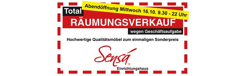 Abendöffnung im Räumungsverkauf bei Sensá in Münster